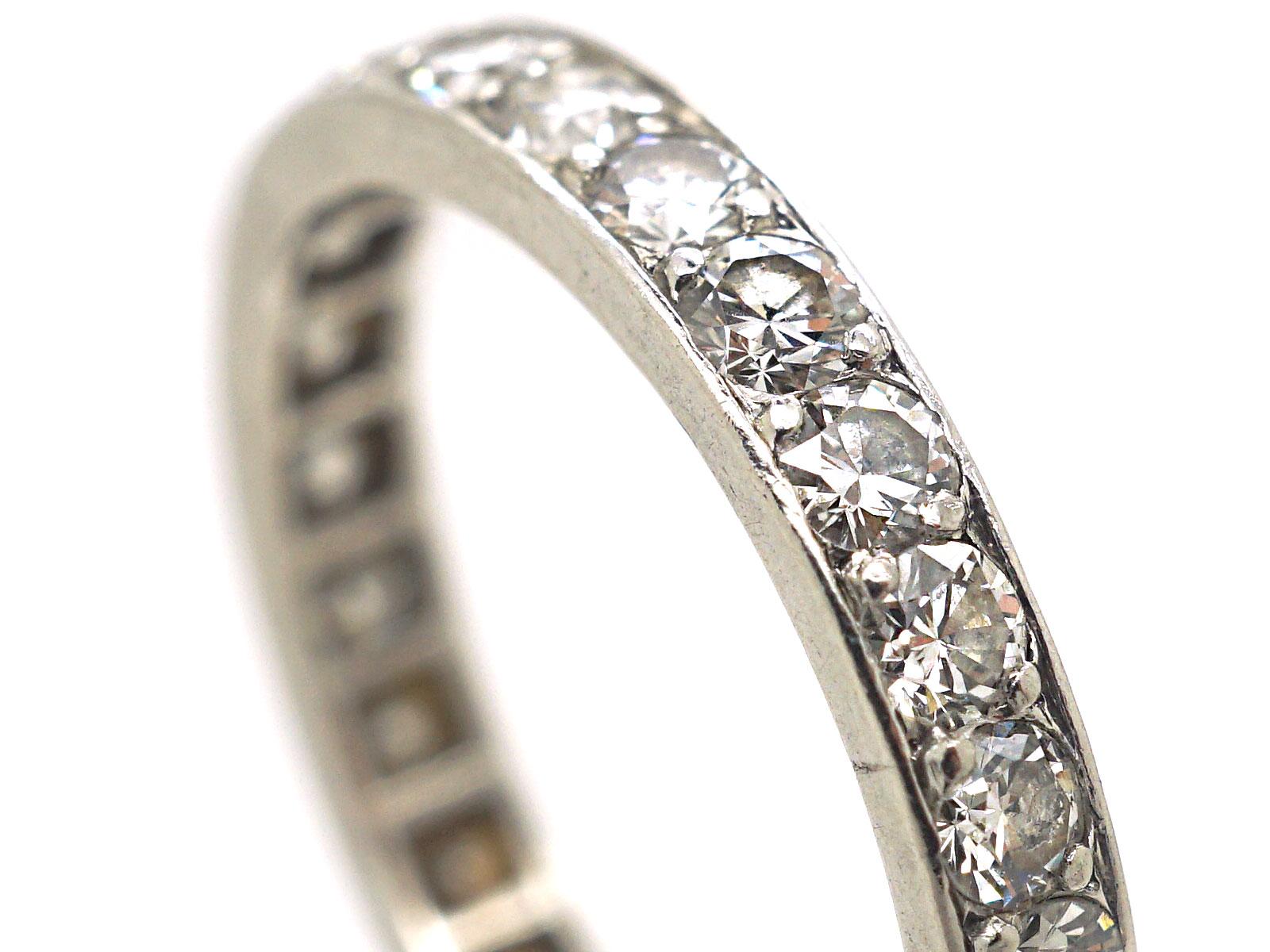 French Platinum & Diamond Eternity Ring