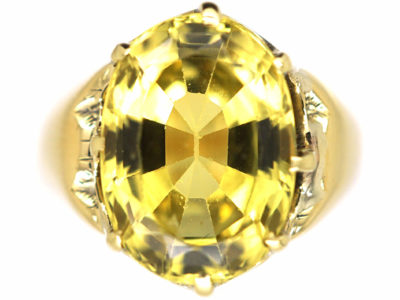 Victorian 18ct Gold & Chrysoberyl Ring
