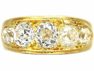 Victorian 18ct Gold Five Stone Diamond Ring