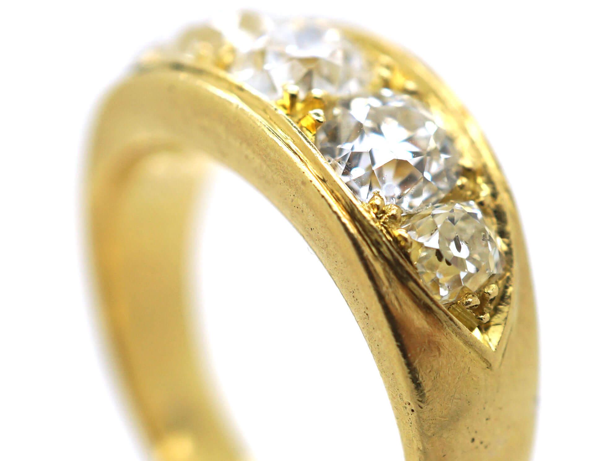 Victorian 18ct Gold Five Stone Diamond Ring