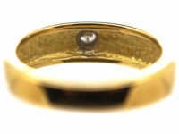18ct Gold Buckle Ring set with a Diamond