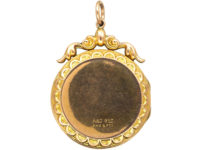 Edwardian 9ct Gold Back & Front Round Locket set with Pearls & Paste