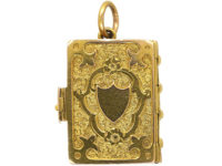 Victorian 18ct Gold Novelty Book Locket with Four Frames Inside