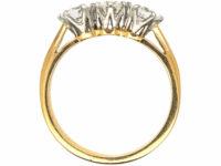 18ct Yellow & White Gold, Three Stone Diamond Ring