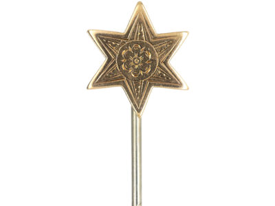 Edwardian 9ct Gold Star Masonic Tie Pin