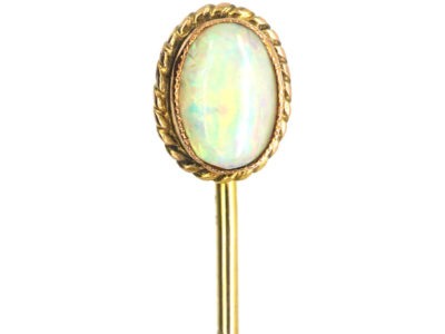 Edwardian 9ct Gold & Opal Tie Pin