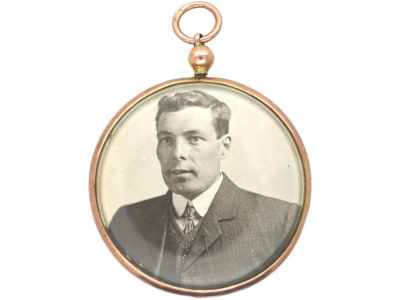 Edwardian 9ct Gold Round Picture Locket