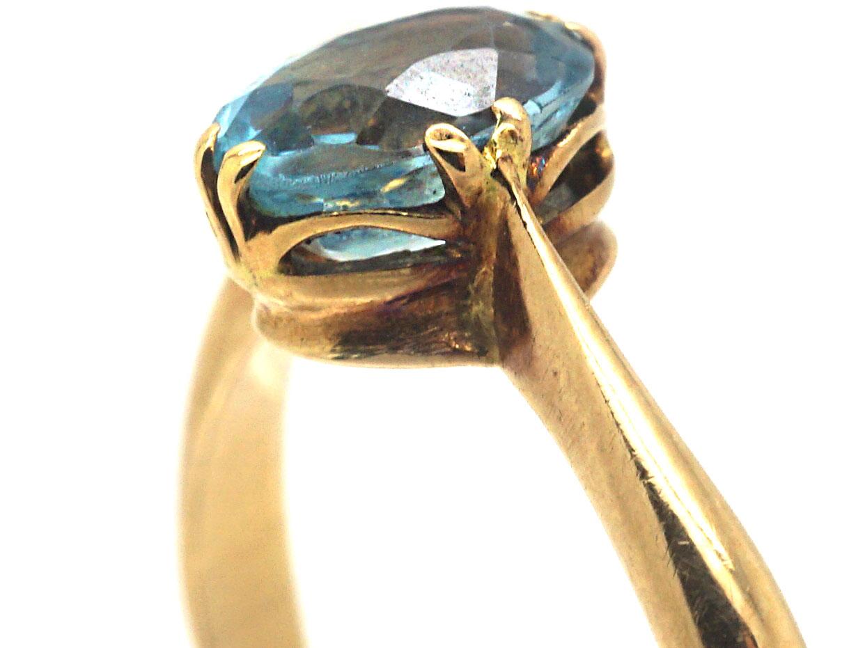 Edwardian 15ct Gold & Aquamarine Ring