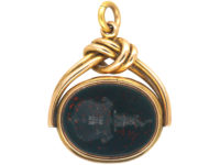 Victorian 15ct Gold Seal & Locket set with a Carnelian & a Bloodstone