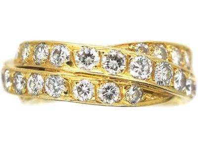18ct Gold & Diamond Triple Band Ring