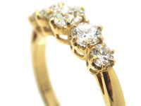 18ct Gold Five Stone Diamond Ring