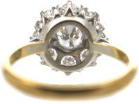 18ct Gold & Platinum Large Diamond Cluster Ring