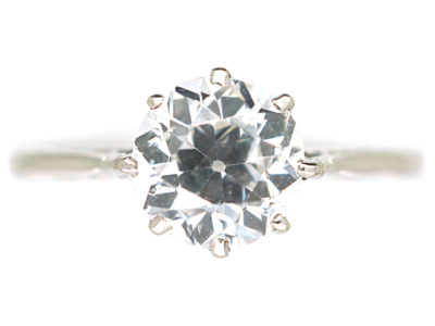 Art Deco Platinum & Diamond Solitaire Ring