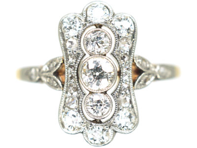 Edwardian 14ct Gold & Platinum, Diamond Ring