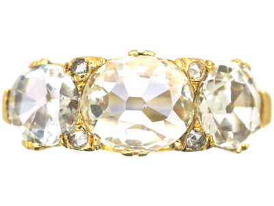 Victorian 18ct Gold, Diamond Three Stone Ring