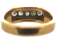 Art Deco 18ct Gold & Platinum, Diamond Five Stone Ring