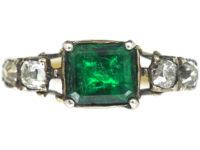 Georgian Emerald & Diamond Ring