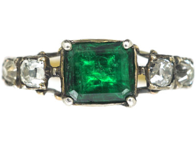 Georgian Emerald & Diamond Ring