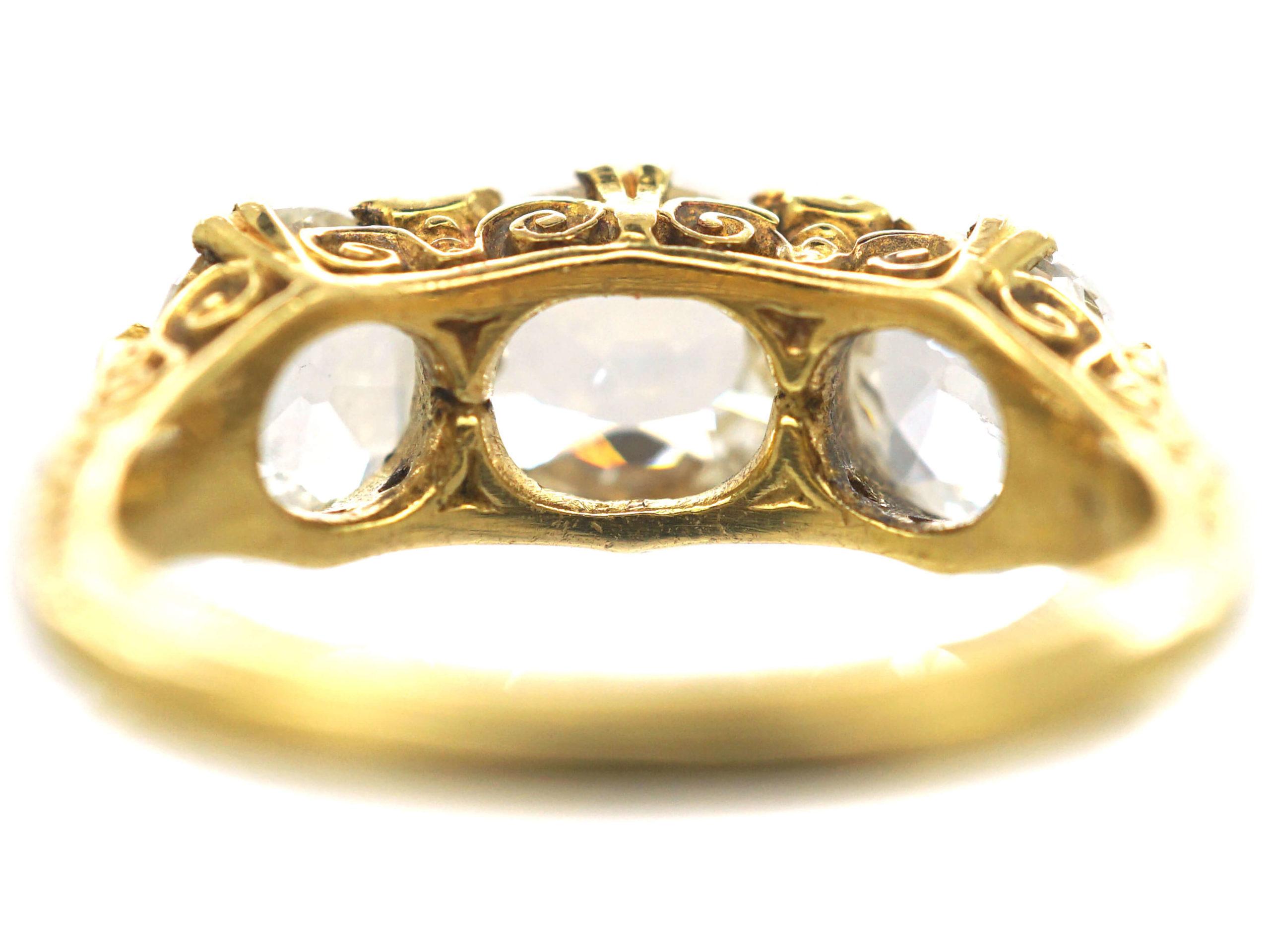 Victorian 18ct Gold, Diamond Three Stone Ring