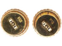 Art Deco Large 18ct Gold Diamond & Opal Earrings