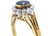 Early 20th Century 14ct Gold Sapphire & Diamond Cluster Ring