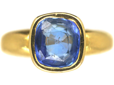 18ct Gold & Ceylon Sapphire Ring