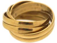 18ct Gold Six Band Russian Wedding Ring
