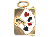 9ct Gold Aces Charm with Cards Inside