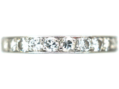 Art Deco French Platinum Diamond Eternity Ring