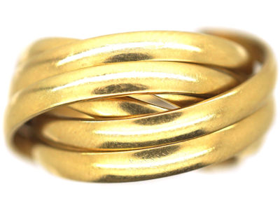 18ct Gold Six Band Russian Wedding Ring