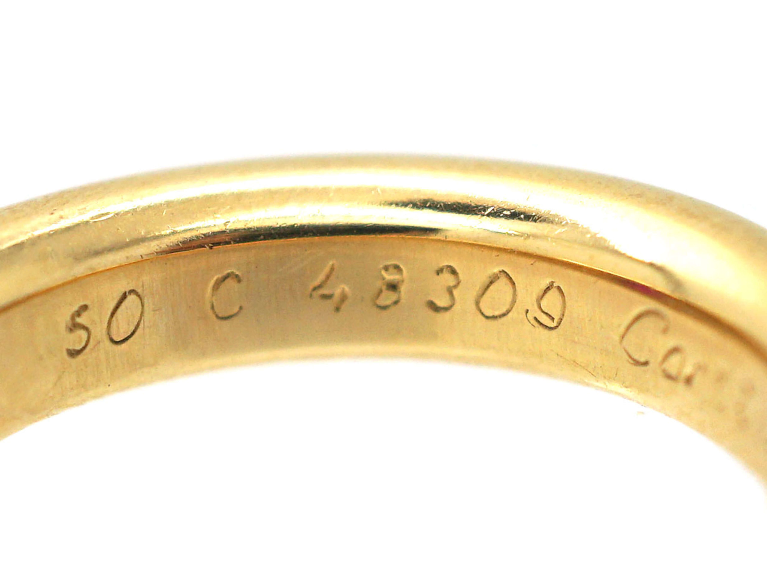18ct Gold & Ruby Ellipse Ruby Band Ring by Cartier