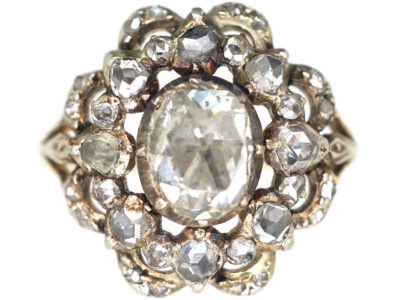 Georgian Rose Diamond Cluster Ring