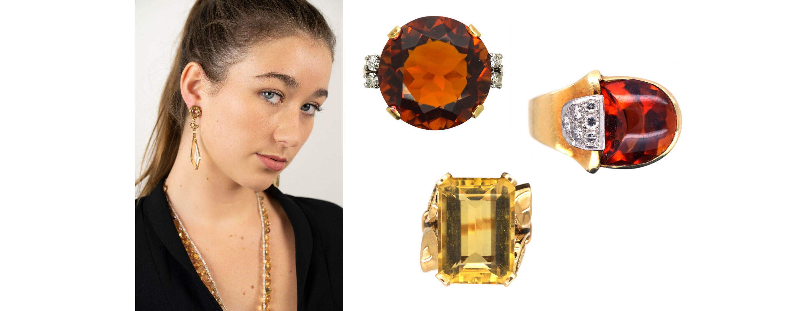 Antique citrine jewellery