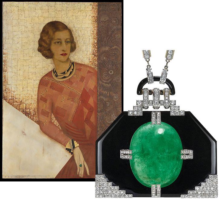 Art Deco lacquer jewellery