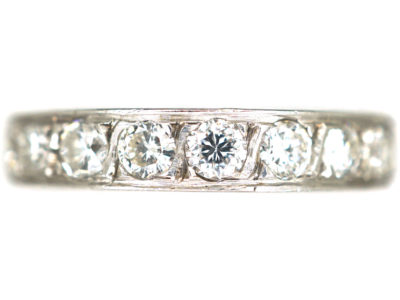 Art Deco 18ct White Gold & Diamond Eternity Ring