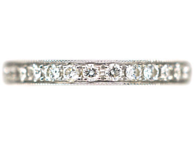 18ct White Gold Diamond Set Half Eternity Ring