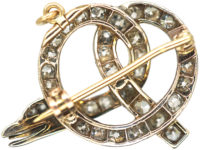 Victorian Coily Snake Brooch / Pendant set with Diamonds