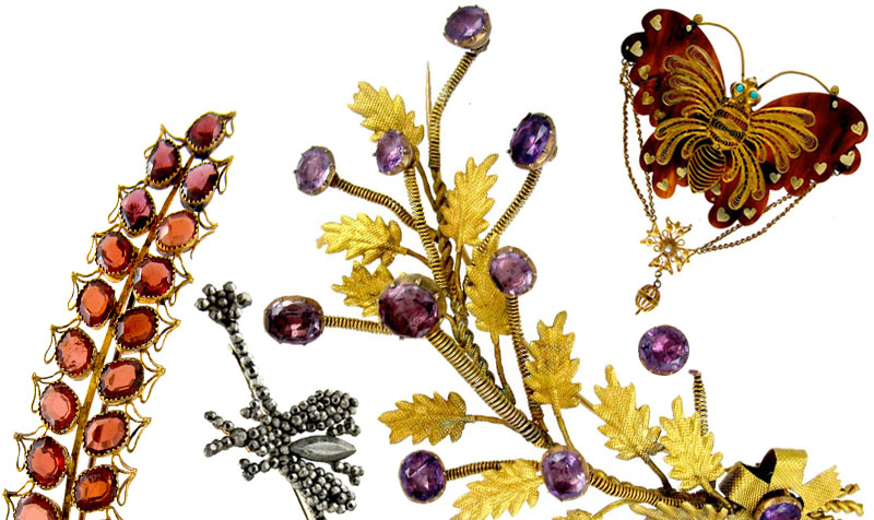 Georgian botanical jewellery