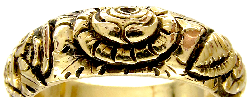 Georgian repossé ring