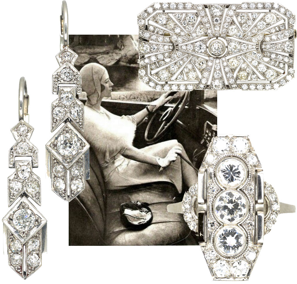 Art Deco geometric jewellery