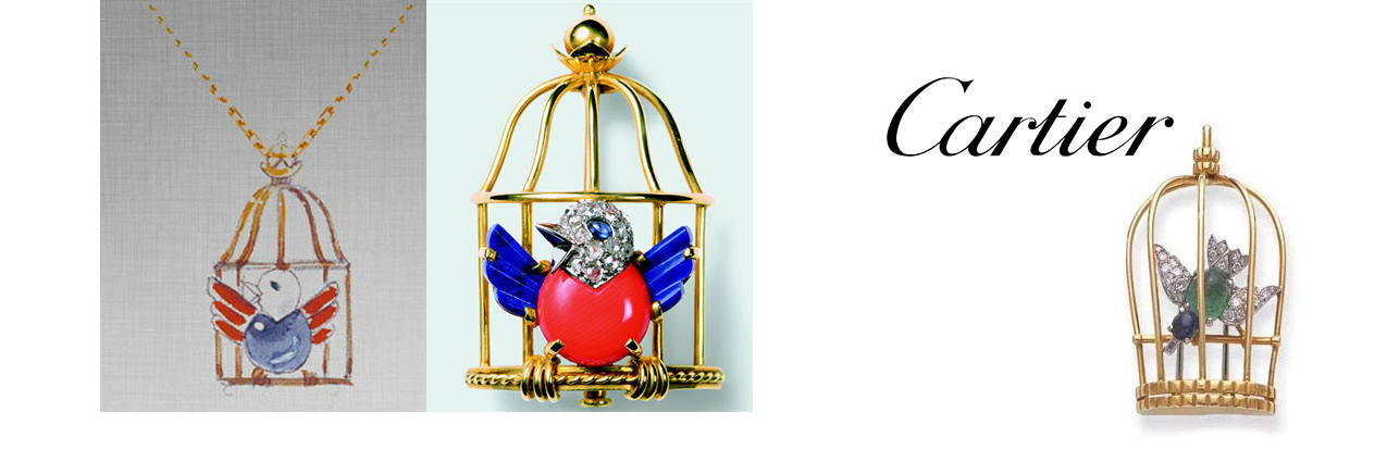 "Cartier ""bird at the door of it's cage"""