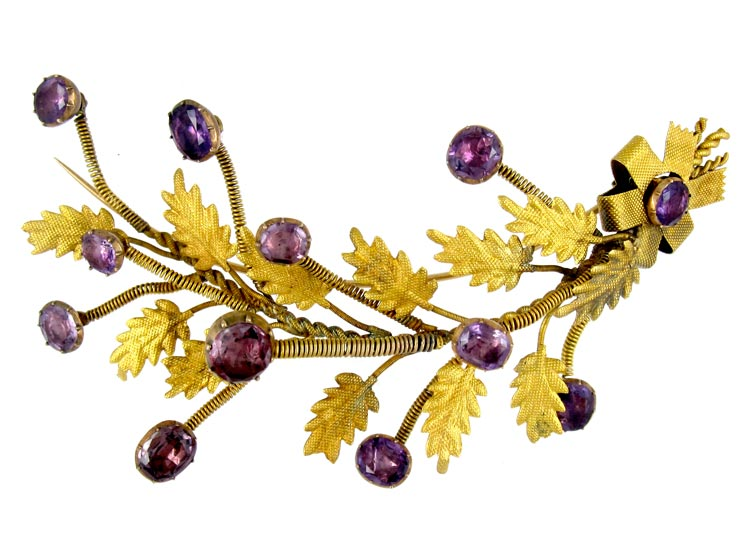 A Georgian Tremblant Brooch