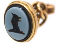 Victorian 18ct Gold Seal with Cockerel Intaglio