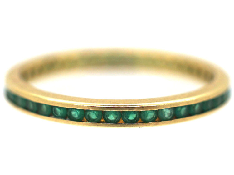 18ct Gold & Emerald Eternity Ring