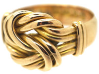 Edwardian 18ct Gold Large Lover's Knot Ring