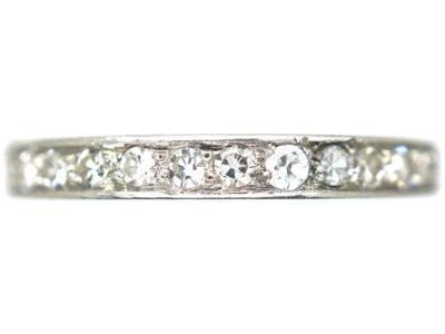 French Art Deco Platinum & Diamond Eternity Ring