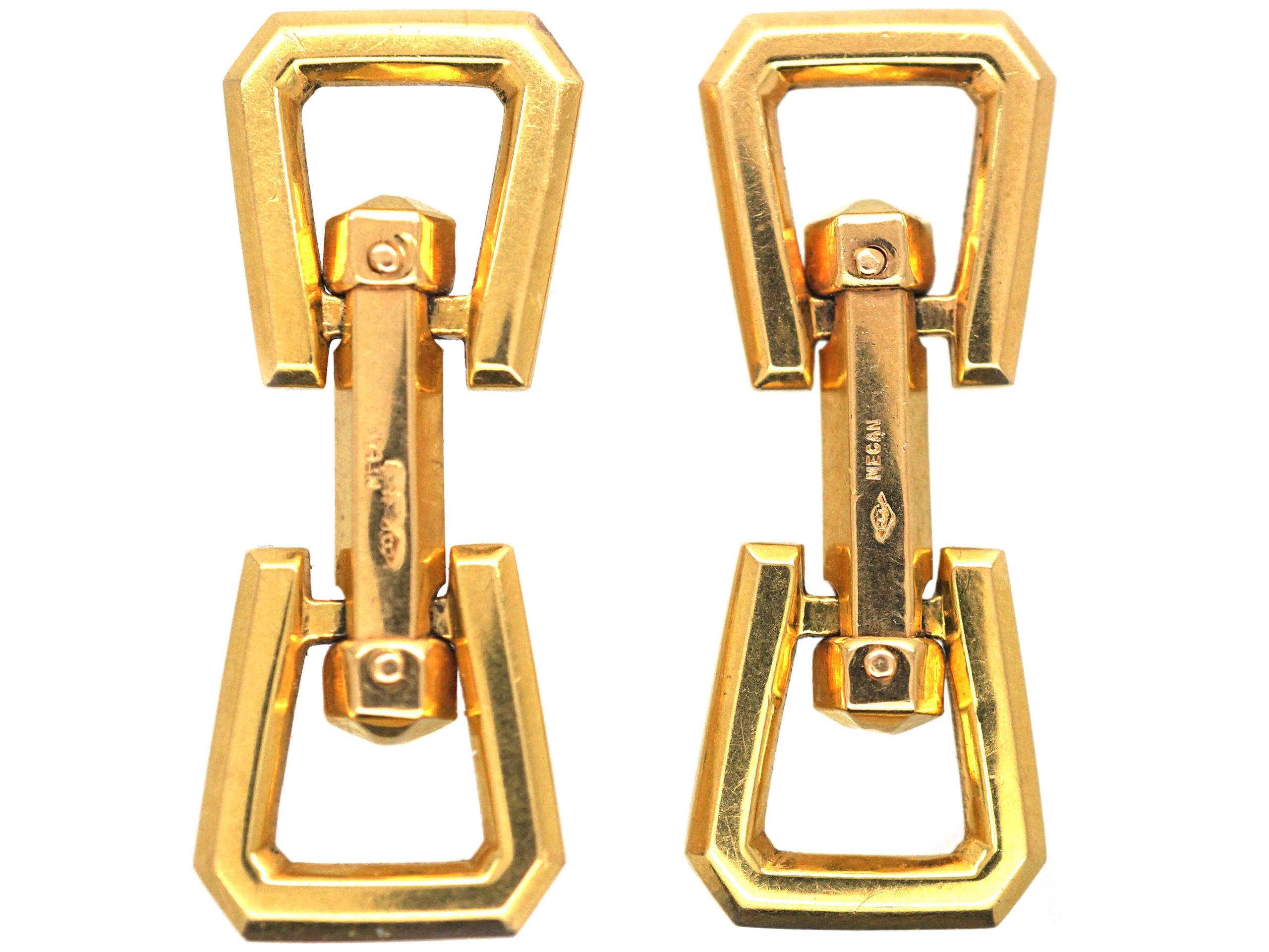French 18ct Gold Art Deco Cufflinks