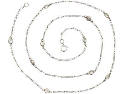 18ct White Gold & Diamond Chain