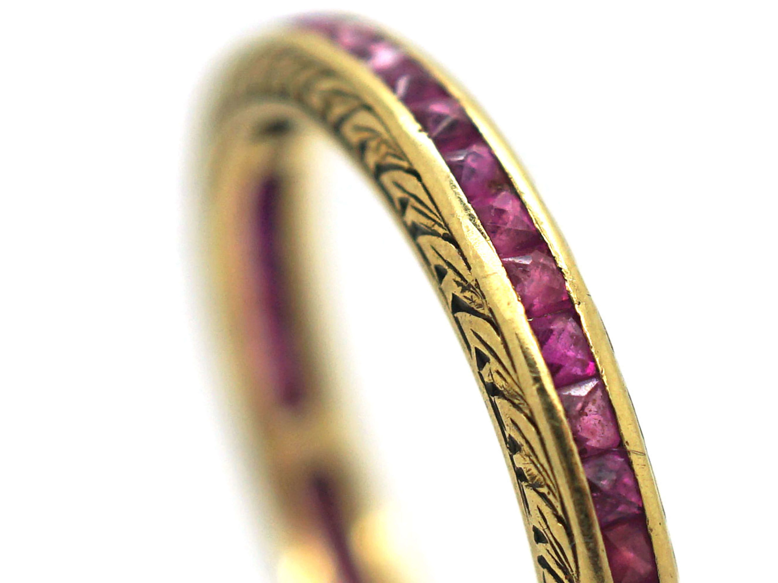 Art Deco 18ct Gold & Ruby Eternity Ring