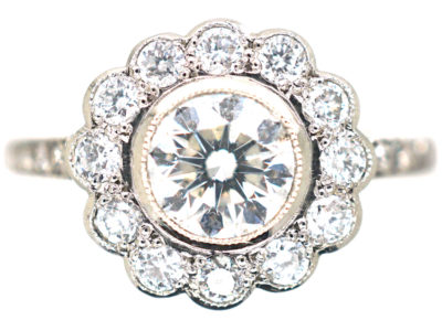 Platinum & Diamond Daisy Cluster Ring